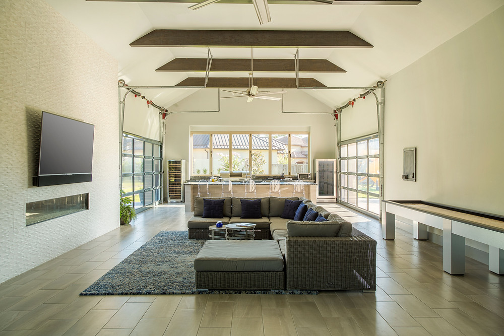 By Design Interiors - Interior Designers in Houston - indoor and outdoor living area