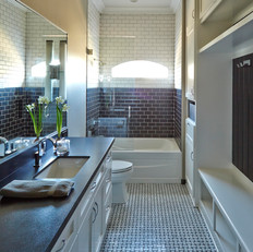 Black & White Guest Bath
