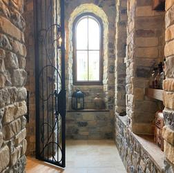 Spanish inspired wine grotto