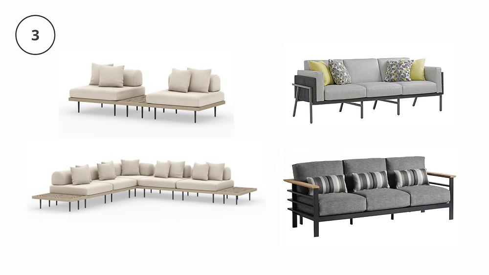 outdoor sofas, sectionals, interior designers in houston, by design interiors, austin texas, sleek designs, texas