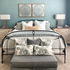 Tranquil and Teal Master Bedroom