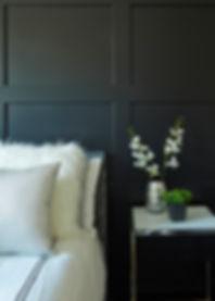Block Panelling Details in Master Bedroom