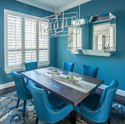 Bold Transitional Dining Room