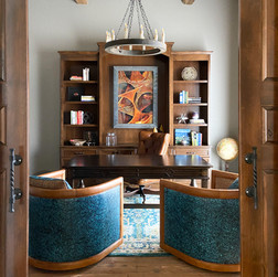 Spanish Revival study / home office