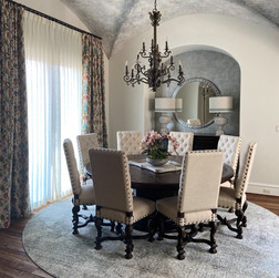 Spanish revival dining room, lake conroe, tx, interior design , dining room, faux paint, w