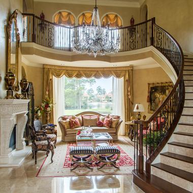 Refined Grand Living Room