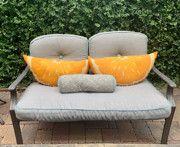 Outdoor loveseat and patio furniture