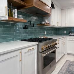 Modern Farmhouse kitchen reno with custom range
