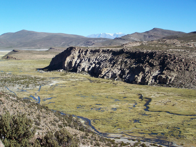 southwest of the Isluga volcano