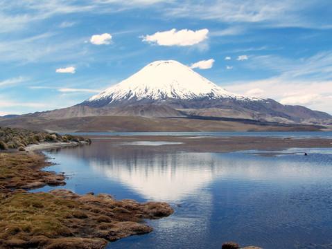 Chungara lake and Parinacota