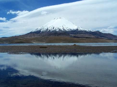 Chungara lake and Parinacota
