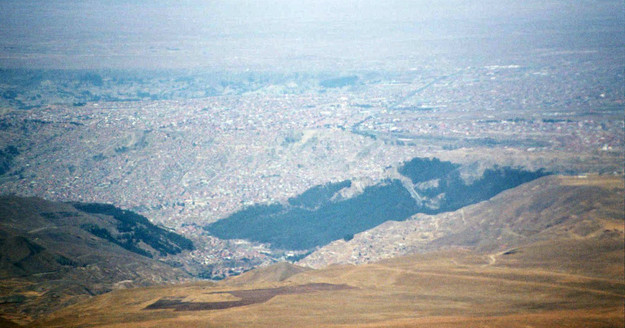 La Paz from Chacaltaya