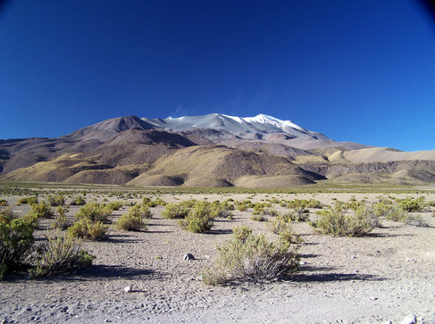 Isluga volcano, view from south