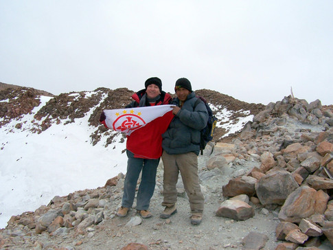 Licancabur summit, me and Macairo