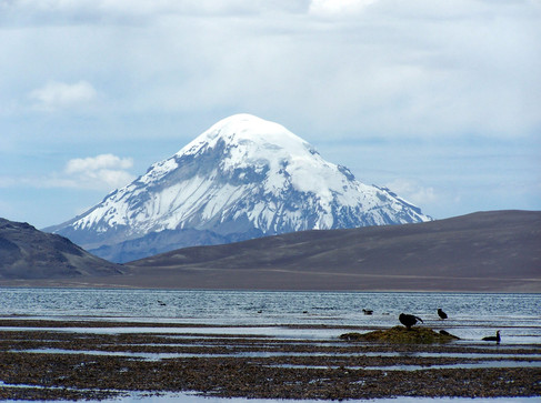 Chungara lake and Sajama