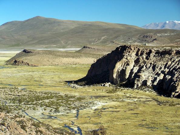 west of the Isluga volcano