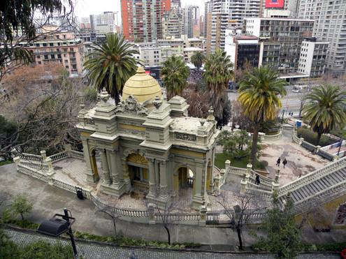 Santiago, downtown, Santa Lucia hill