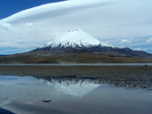 Chungara lake - Parinacota mountain