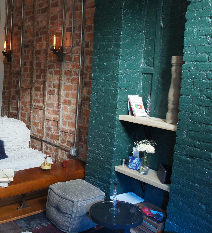 restored brick walls and columns