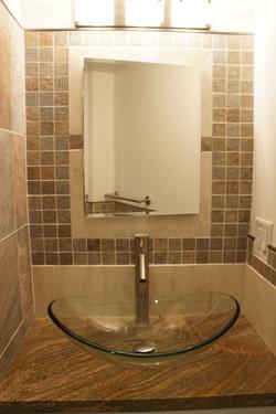 natural and modern bathroom