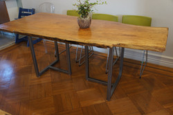 Live edge Maple Table w/ Steel Legs