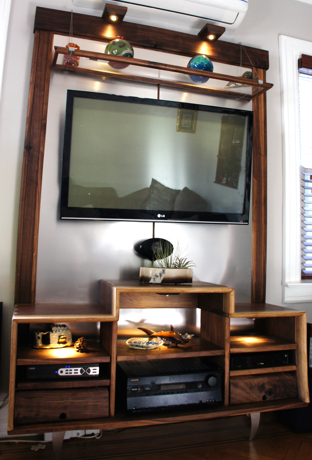 Walnut and Aluminum Media Center