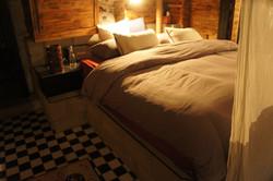 cinderblock bed