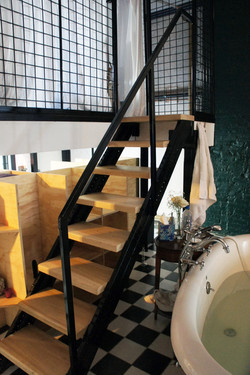 custom steel and wood stairs,