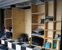 plywood storage cubby