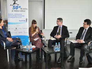 Udeležba predstavnikov Socialne zbornice Slovenije na novinarski konferenci z naslovom »50+ Ni ovira