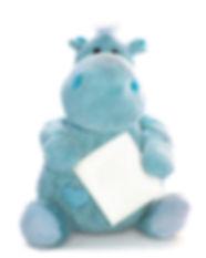 Blue Plush Toy Hippo
