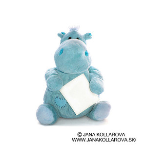 Blue Plush Toy Hippo