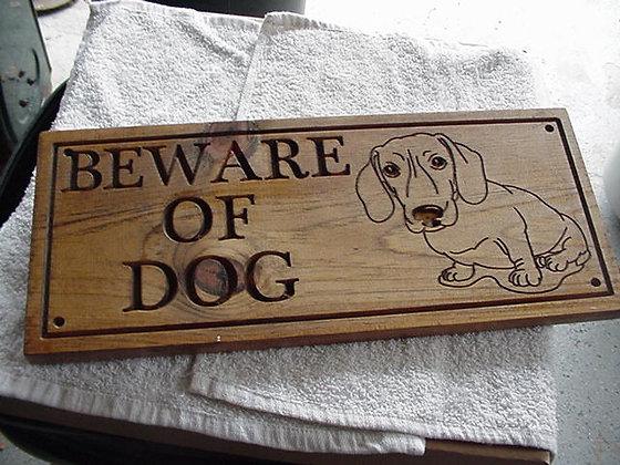 Beware of Dog (Dachsund)