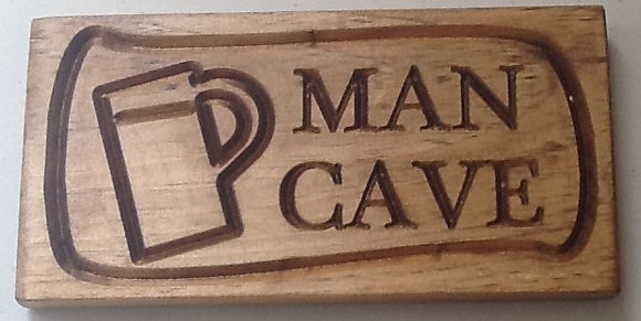Man Cave with Beer Mug