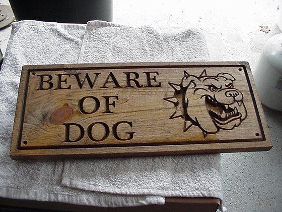Beware of dog (Bulldog)