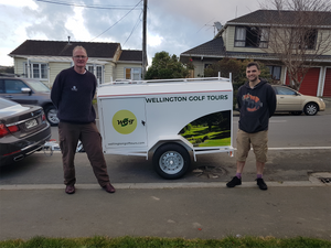 Wellington Golf Tours trailer. Images created by KittandaDesign