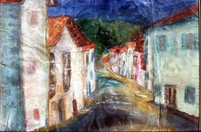 Ostabat - the village street