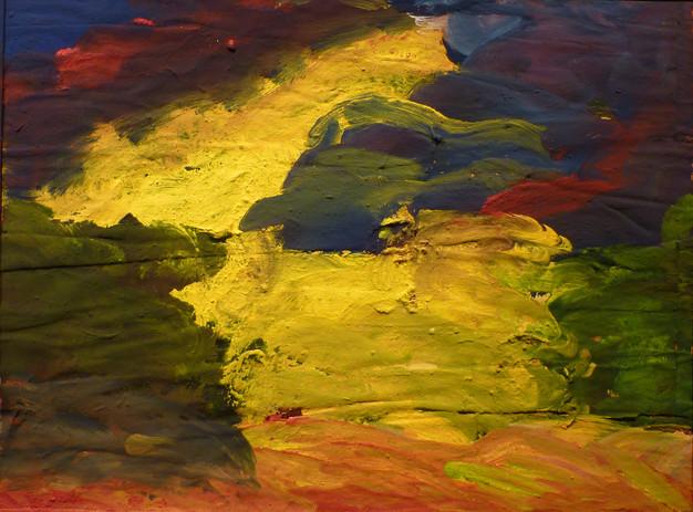 Paysage (2012) 44 cm x 58 cm  acrylique