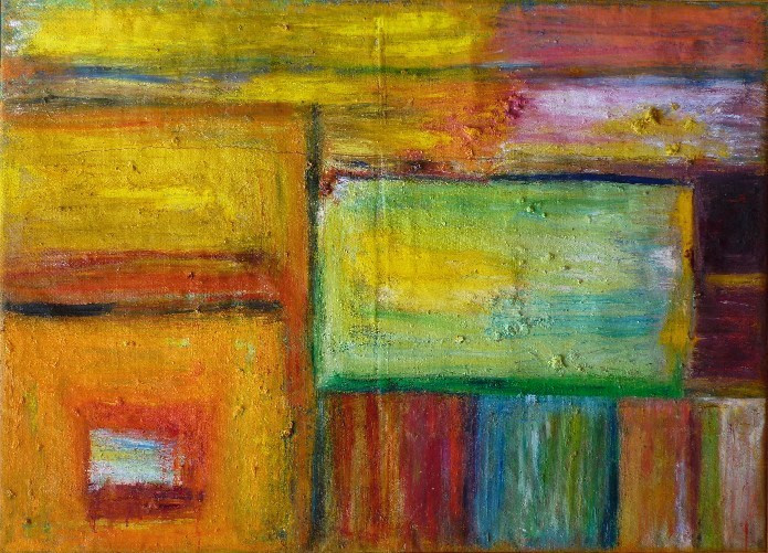 Etxea (2008) 114 cm x 146 cm huile sur t
