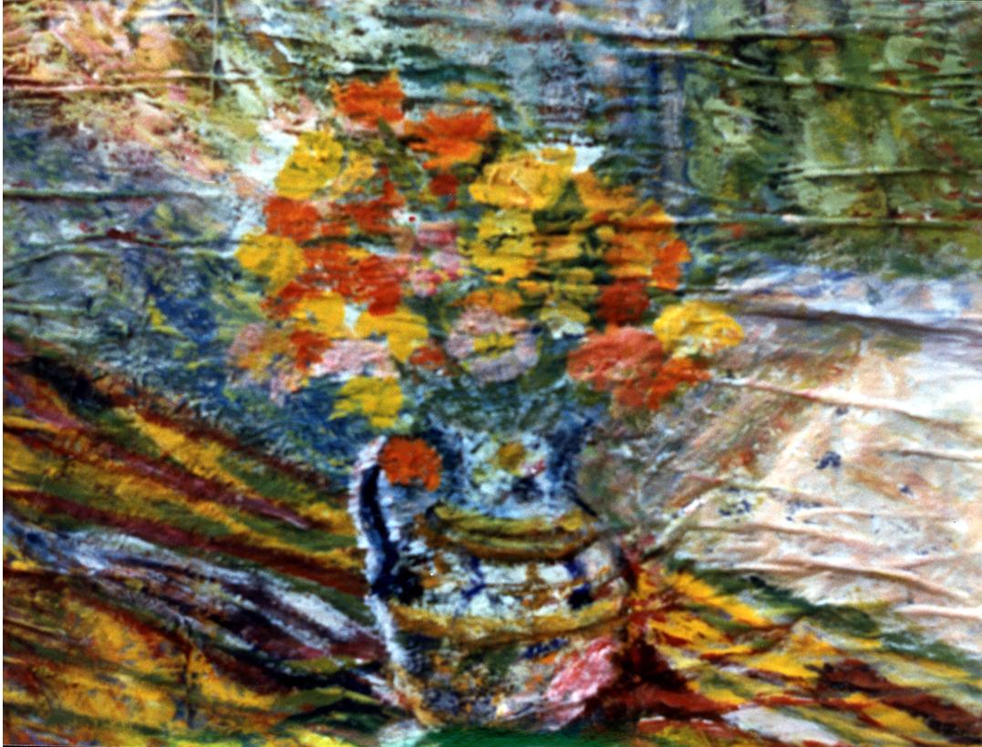 Poppies - Tempera on newspaper 68 x 52.5