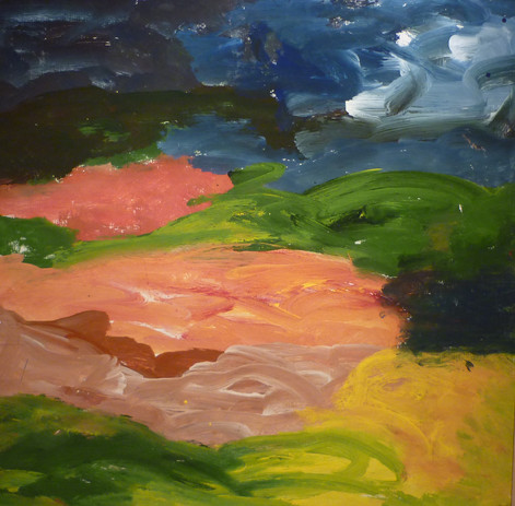 Paysage (2012) 80 cm x 80 cm  acrylique