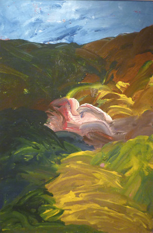 Paysage (2012) 90 cm x 55 cm  acrylique