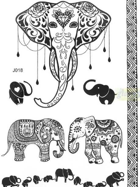 Geçici Dövme - Elephant