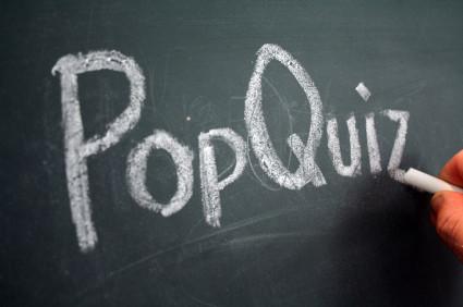 pop-quiz