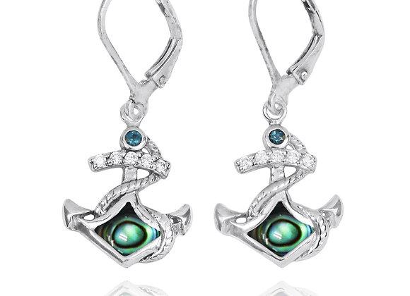 NEA3138-ABL - Abalone Elegant Ancor Earrings