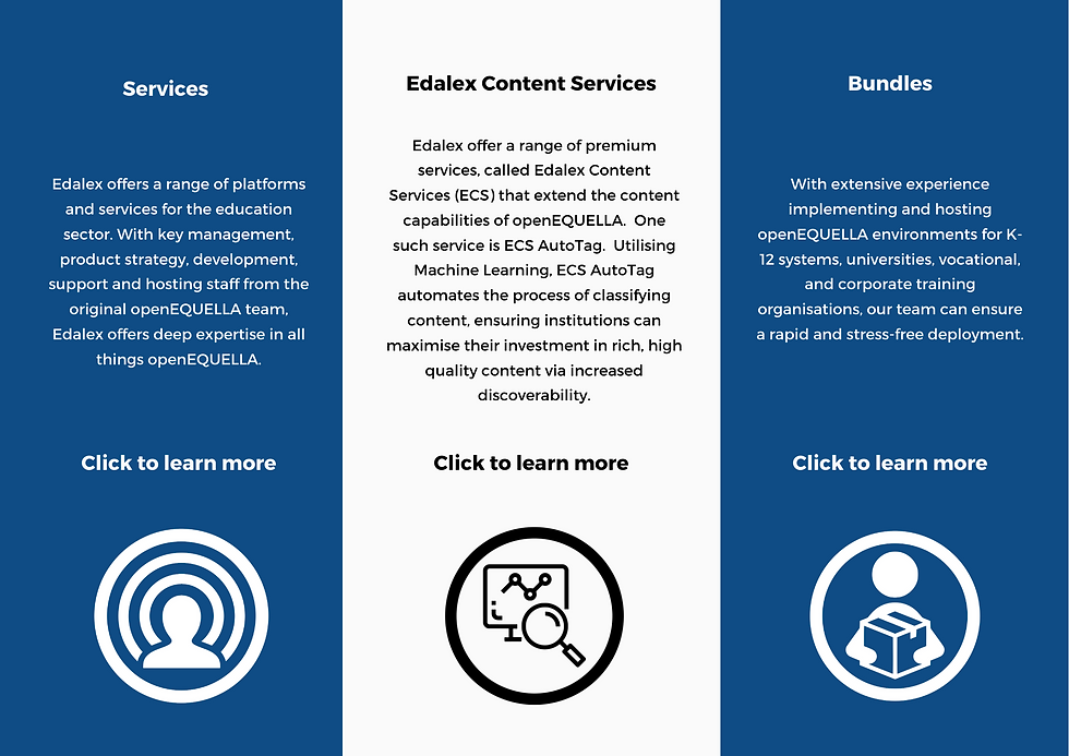 Edalex offers a range of platforms and s