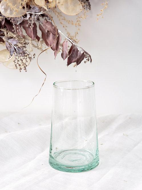 6 verres transparents en verre soufflé