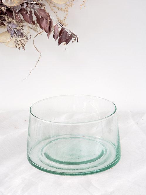 Saladier verre soufflé transparent (petit)