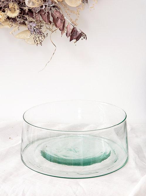 Saladier verre soufflé transparent (grand)