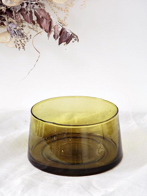 Saladier verre soufflé marron (petit)